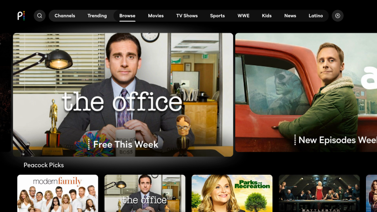 Select the Trending or Browse menu option and you should see The Office appear on the main screen.