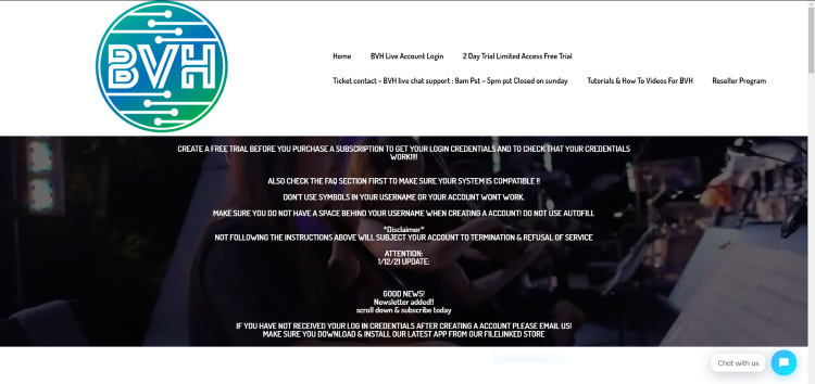 blerd vision hosting iptv website