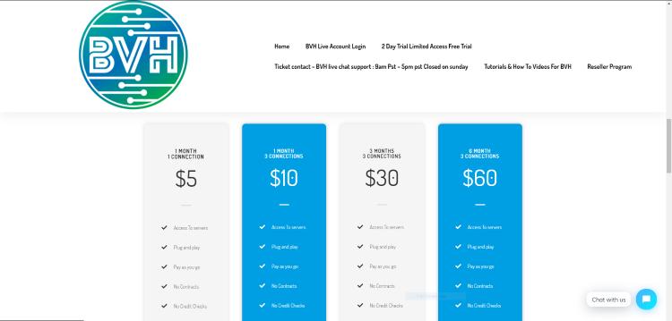 blerd vision hosting pricing