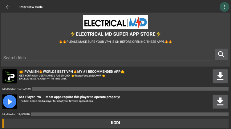 electrical md filelinked store