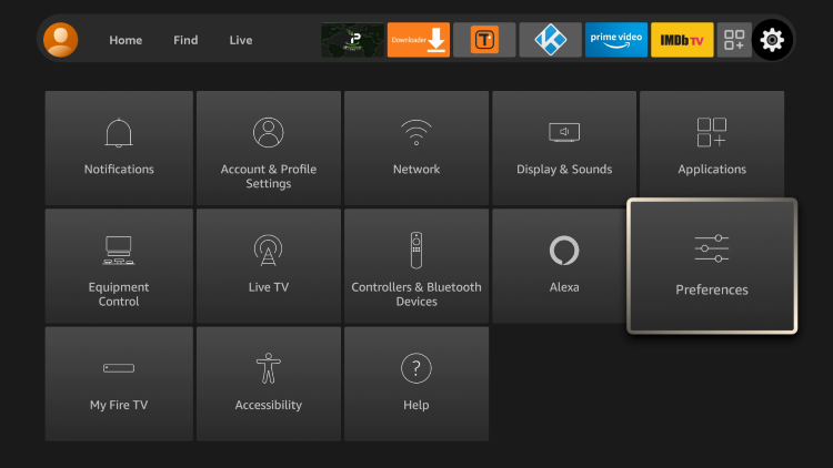 The first solution to block ads on your Firestick/Fire TV is to manually adjust preferences within the system settings.