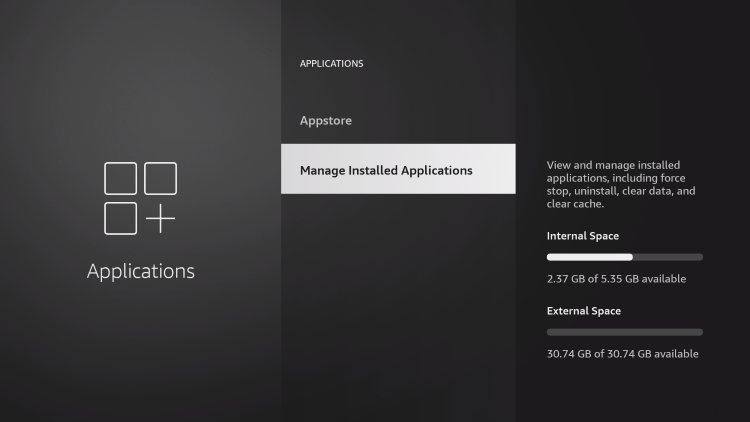 manage installed applications
