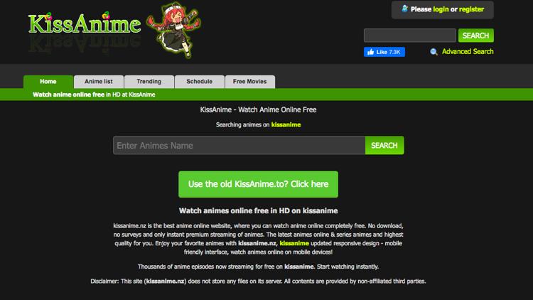 kisscartoon alternative site kissanime