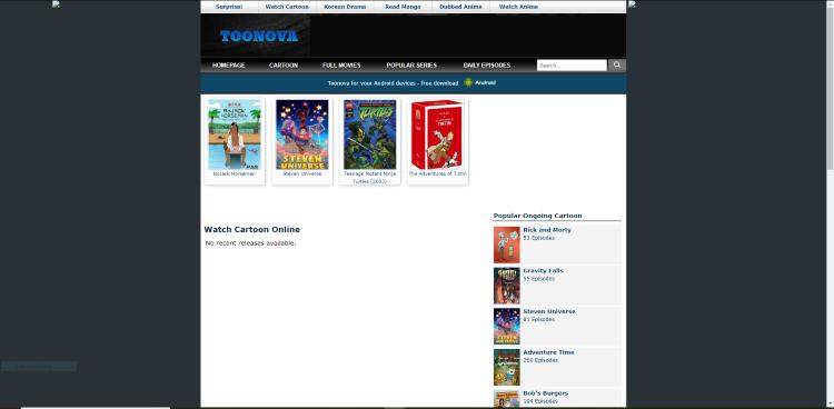 toonova cartoon website