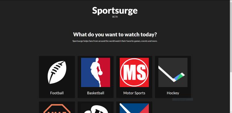 sportsurge streaming website
