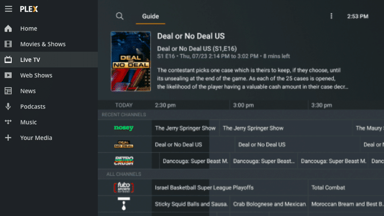 Believe it or not, Plex Media Server now provides free live TV on any compatible device!