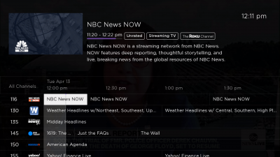roku update live tv channel guide