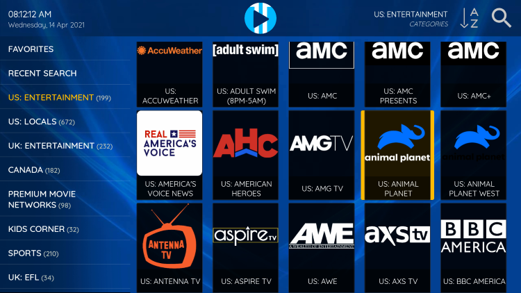The ability to add channels to favorites is one of the best features within XCIPTV!
