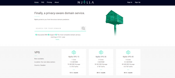 """Njalla is a """"privacy-aware"""" domain service company that was actually created by the founder of Pirate Bay - Peter Sunde."""
