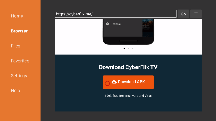click download apk
