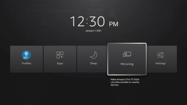 firestick setting screen mirroring