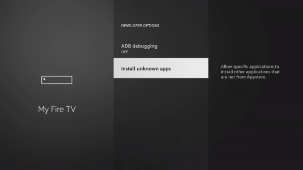 hidden firestick settings install apps from unknown sources