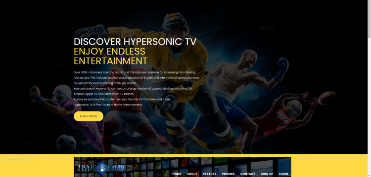 The Hypersonic TV IPTV service provides over 7,000 live channels with many in HD quality.