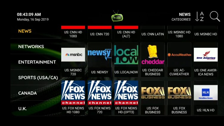 The ProgoTV IPTV service offers over 7,000 live channels starting at $35.00/month with their basic subscription.