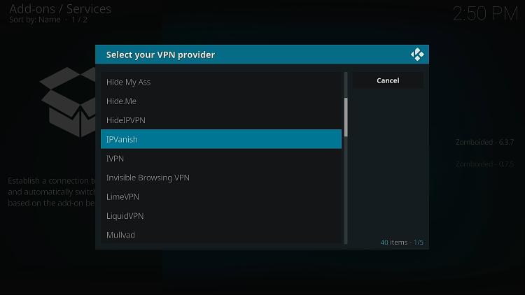 Choisissez IPVanish