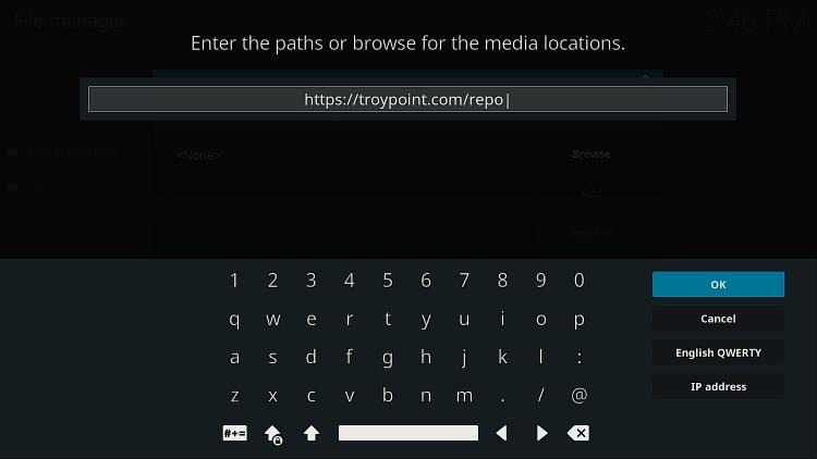 Tapez l'adresse de dépôt du gestionnaire VPN zomboided