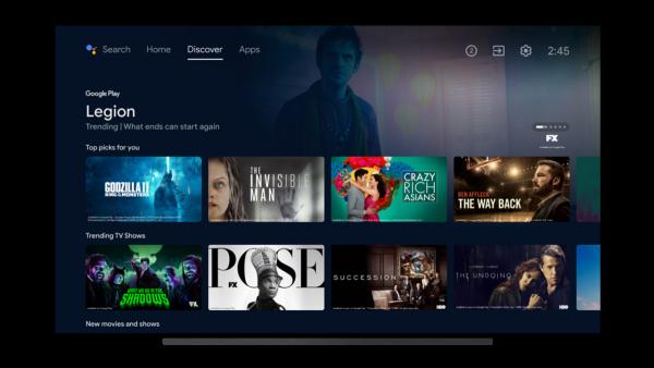 new android tv interface nvidia