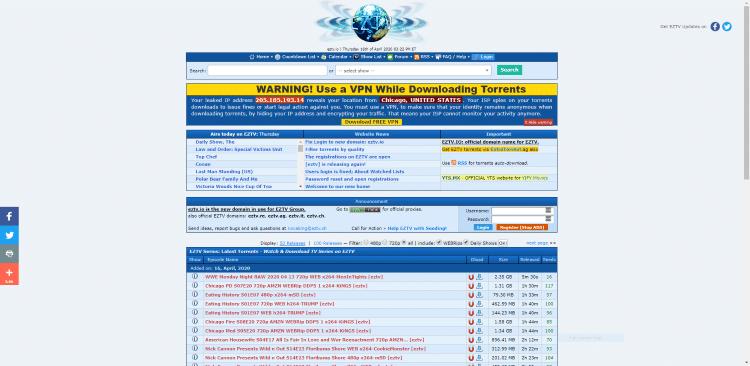 eztv website