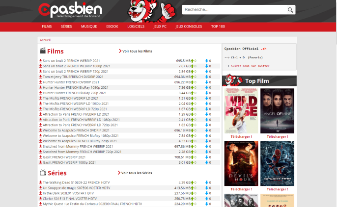 Cpasbien is a popular name in the torrenting and file-sharing space.