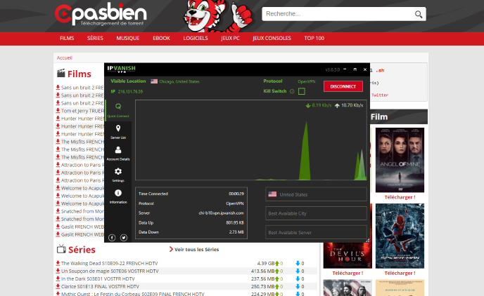 However, this does not mean we shouldn't protect ourselves when streaming content from this unverified torrent website.