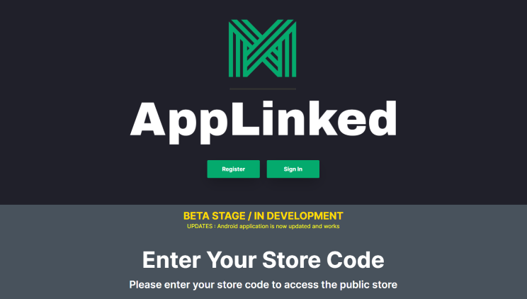 If you want to create your own code, it appears you can now register on Applinked's official website.