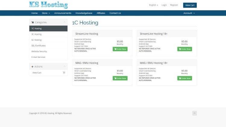 ks hosting pricing