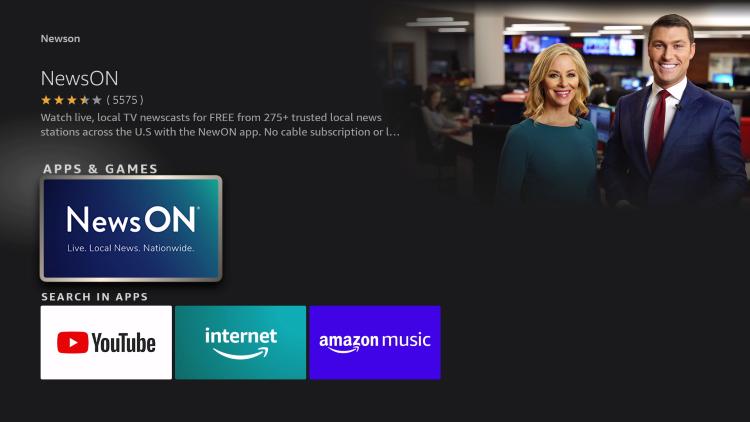 click the newson app