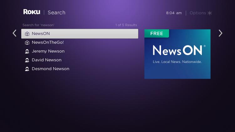 select newson