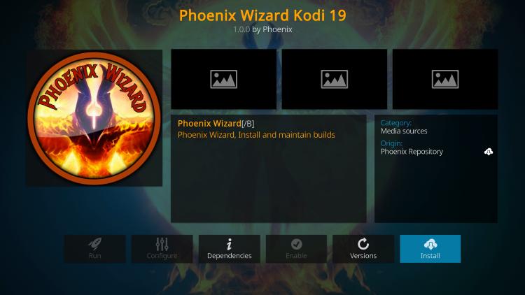 Click Install steampunk kodi build