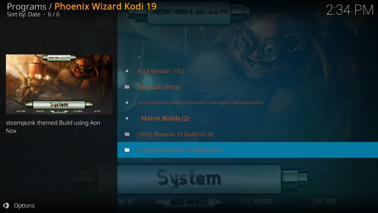 Choose Steampunk Kodi Build