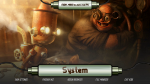 steampunk kodi build system