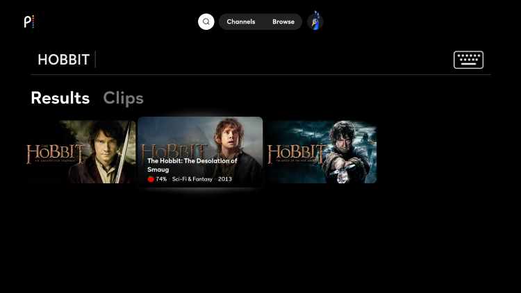 Search for The Hobbit and select your preferred option.