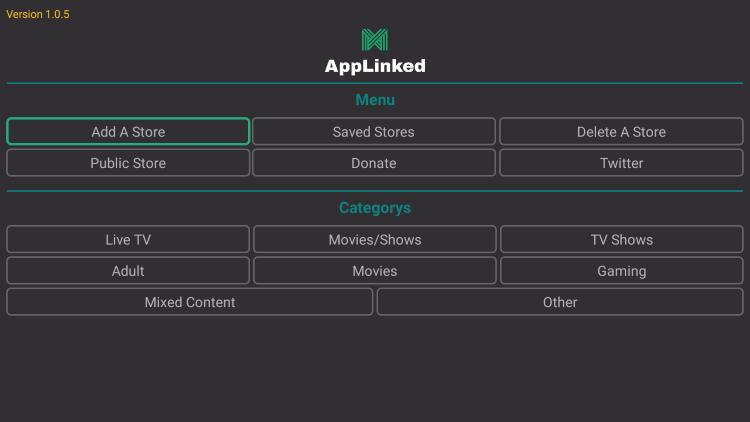 applinked home screen