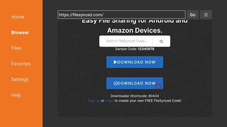 Scroll down and click Download Now to install filesynced apk