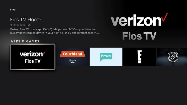choose verizon fios tv app