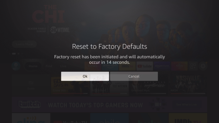 how to reset firestick with remote