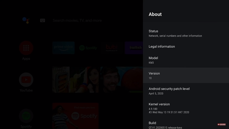 android tv update check latest version