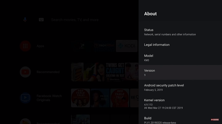 current android version - update android tv box
