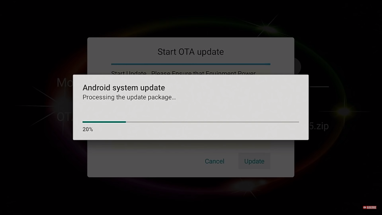 wait for update to install
