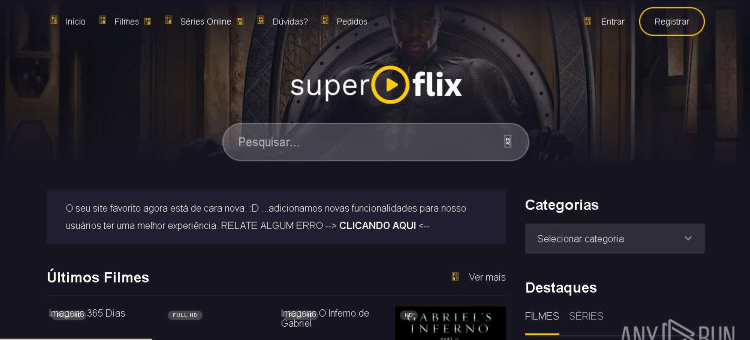 SuperFlix was one of the most popular streaming websites in Brazil with over 22 million monthly visitors worldwide.