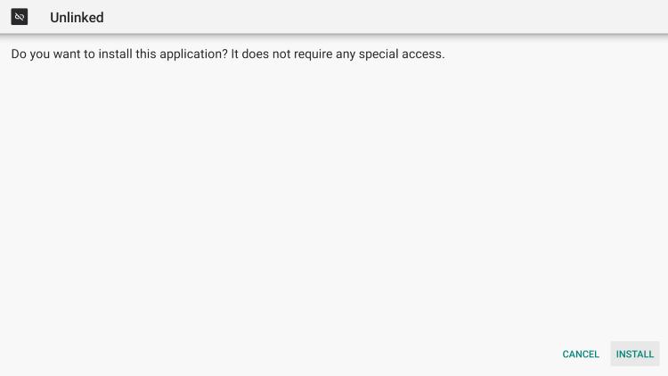click install unlinked