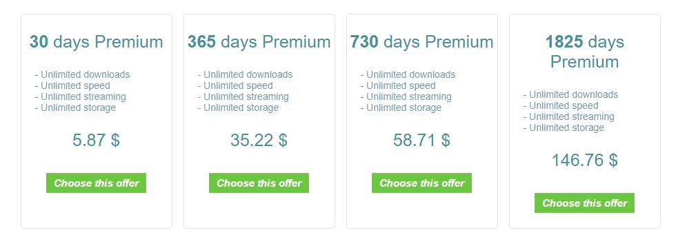uptobox pricing