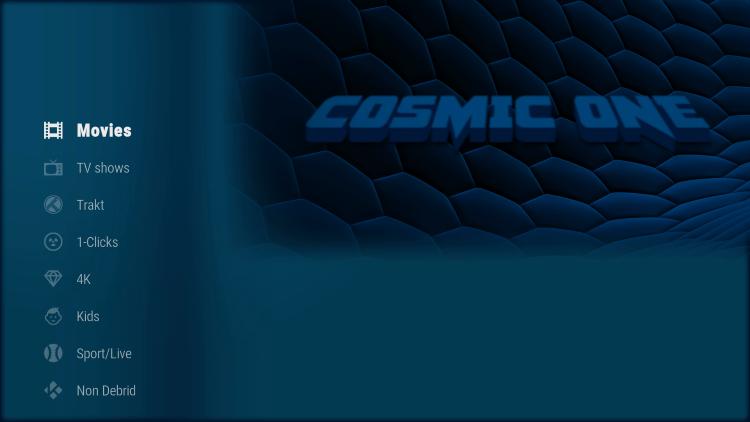cosmic one kodi build