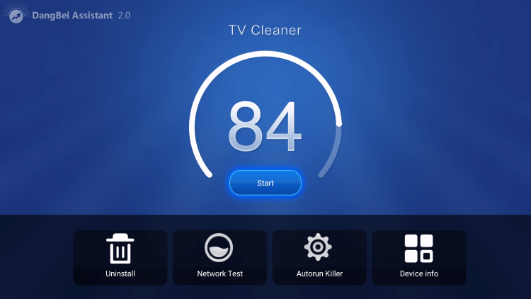 db tv assistant home screen