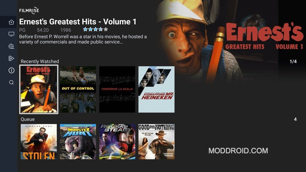 filmrise interface free movie apps