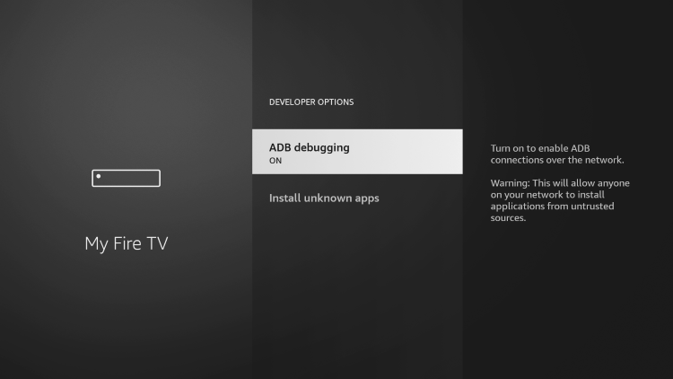 Make sure ADB debugging is turned ON.