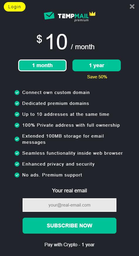 Temp Mail also offers a premium version for those interested in more advanced features.