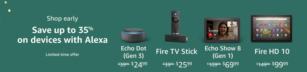 It appears Amazon is promoting some early Black Friday specials that include tons of popular devices.