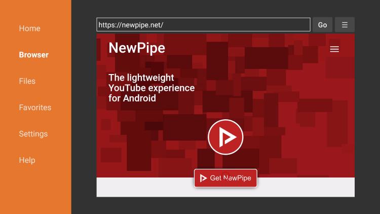 click get newpipe