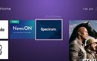 spectrum app on roku